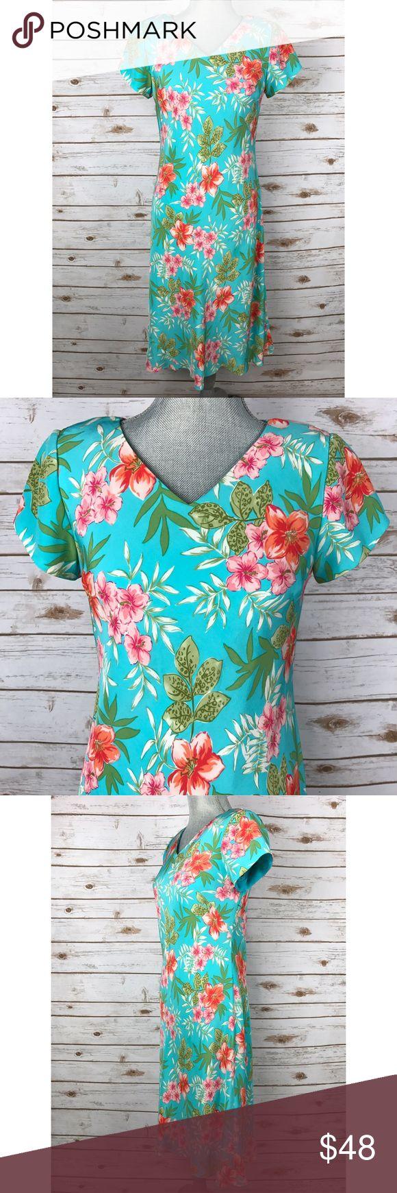 {Talbots} Tropical Print Silk Dress Condition: Excellent-like new!! Talbots Dresses Midi