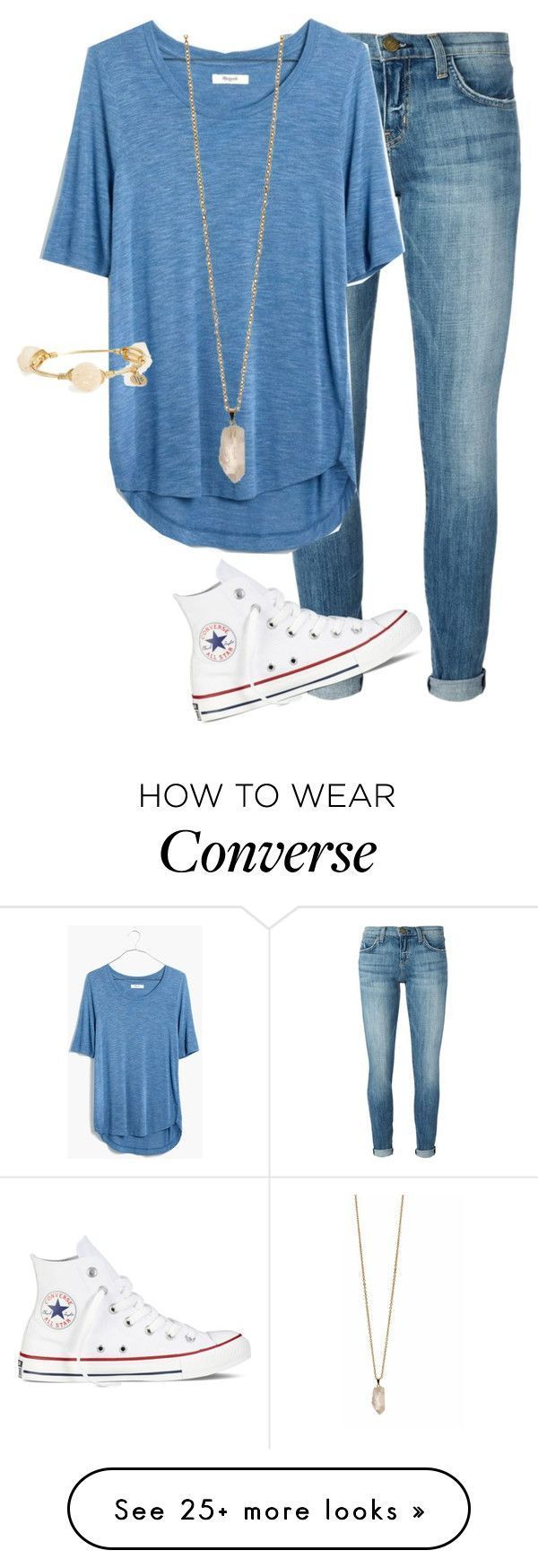 """Untitled #96"" by preppy123 on Polyvore featuring Current/Elliott, Madewell, Converse, Zoya and Bourbon and Boweties"