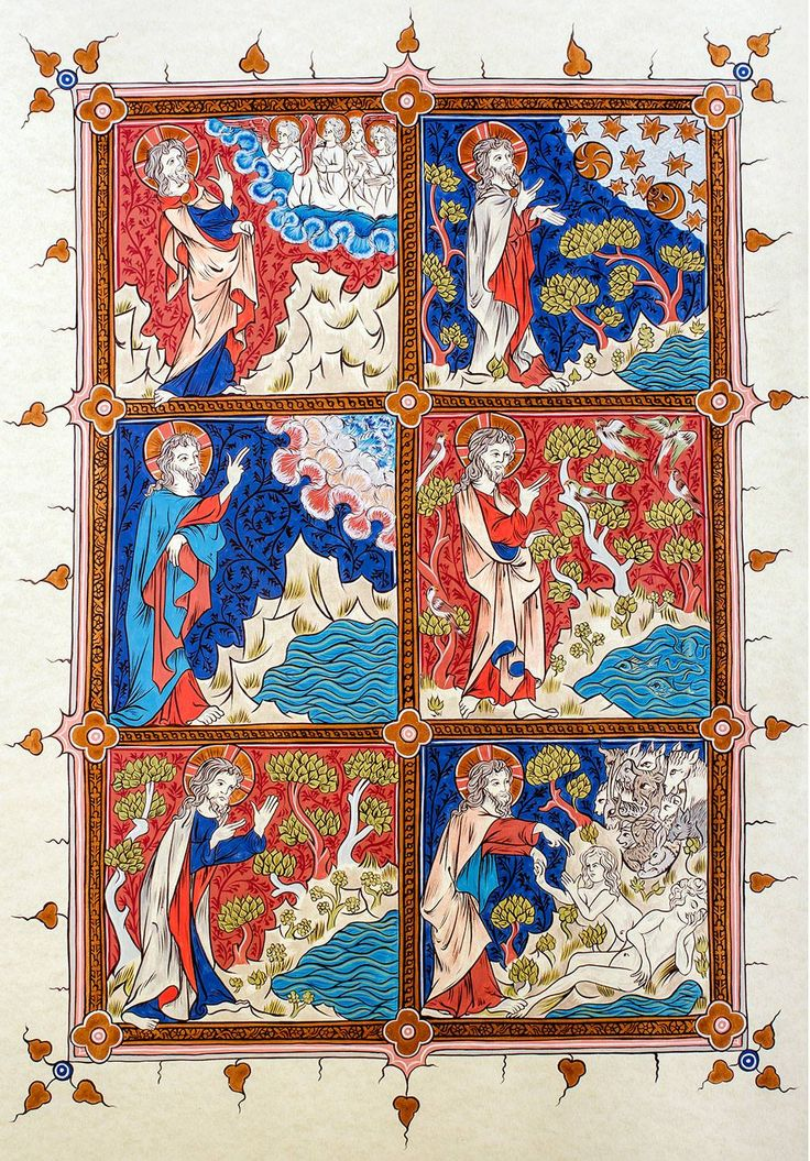 Creation of the World - Jacob van Maerlant - Rijmbijbel, 1332