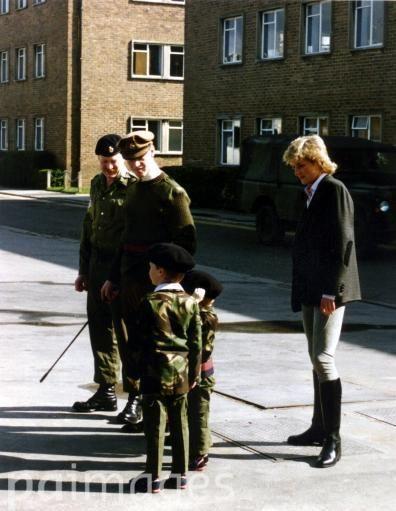Princess Diana with the Princes and James Hewitt.