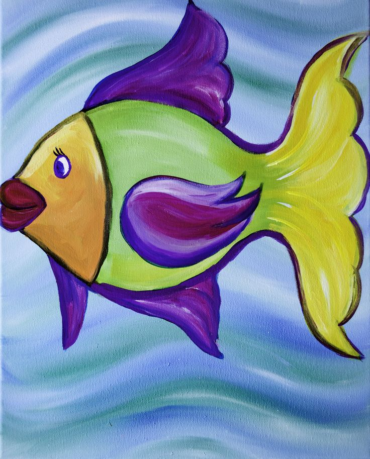 Simple Elegant Kissing Fish Sip and Paint Party Photo - Elegant Sip and Paint Locations Luxury