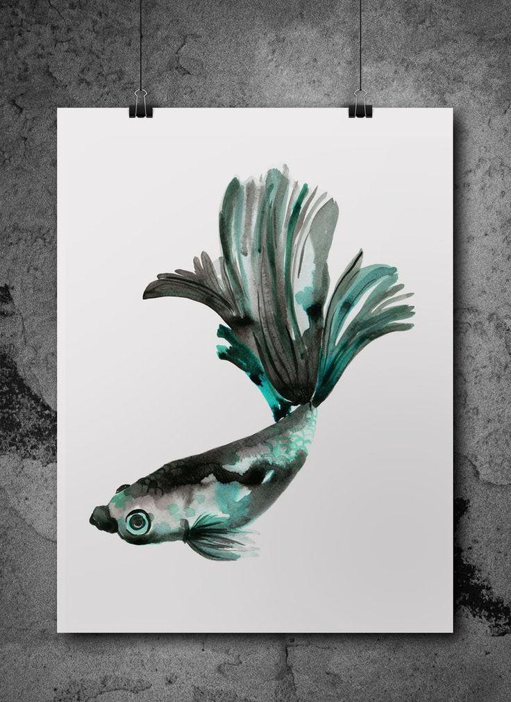 fineas watercolour print
