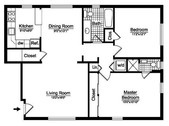 Best 25+ 2 bedroom house plans ideas on Pinterest   2 bedroom ...