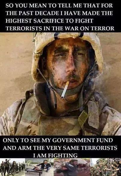 Makes no sense.. That's right folks...our government is sending our tax dollars to terrorist organization's ..WAKE UP !!!
