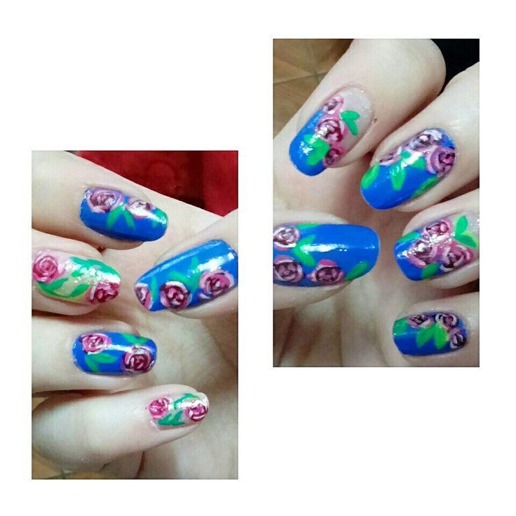 #roses #nails #uñas #nailart