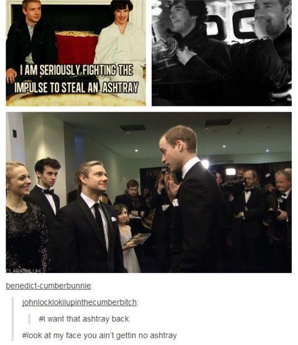 #Sherlock - Nope, not giving back the ashtray!