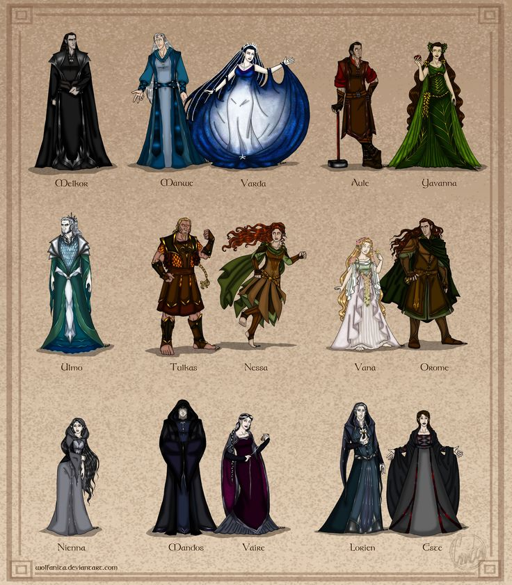 The Silmarillion: The Valar - Couples Version by wolfanita.deviantart.com. Manwe and Melkor's faces though.