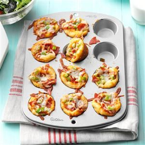 Everyone will enjoy these little pizzas!  And you can make them with ingredients that each person will enjoy!  Watch us make and taste these at 3:00 into this program: https://www.youtube.com/watch?v=1LwiSxN_WyE