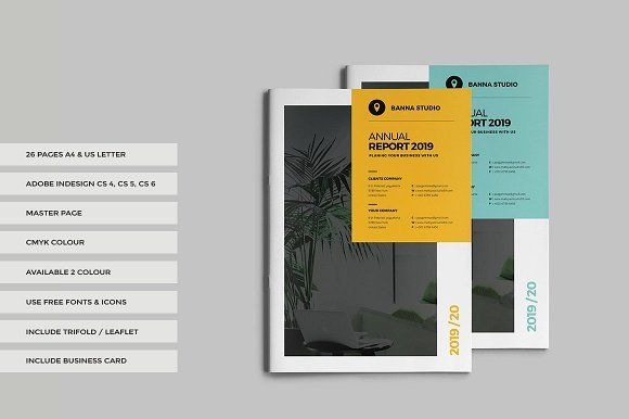 Annual Report  by World Print on @creativemarket
