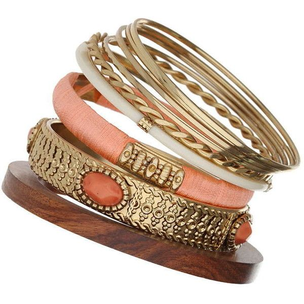 Coral Ethnic Bangle Pack ($7) ❤ liked on Polyvore featuring jewelry, bracelets, accessories, coral, orange bangle bracelet, tribal jewellery, coral jewelry, orange coral jewelry and bangle bracelet