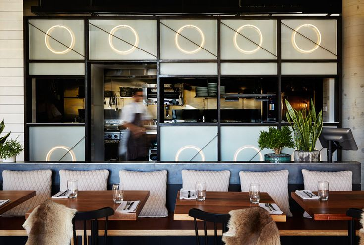Matt Woods's latest projects is a modern Italian restaurant in Sydney that draws influences from beach side architecture and classic Scandinavian design.