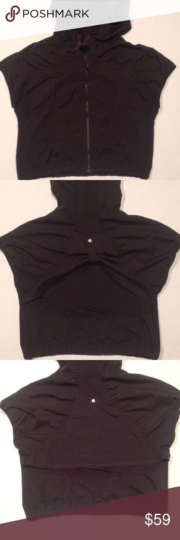 Lululemon Hooded Vest Lightweight hooded vest. Full front zipper. Two side zip pockets. Sleeveless. Back snap closer for different style look. No inside tag with size do go by the following measurements. Chest 40. Back length is 18 inches. lululemon athletica Jackets & Coats Vests