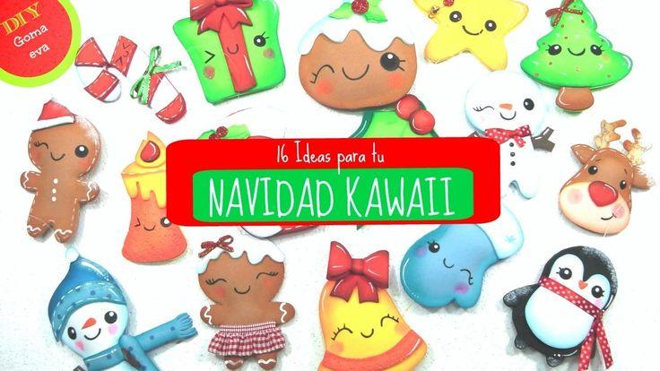 16 adornos Kawaii para Navidad -KLOF