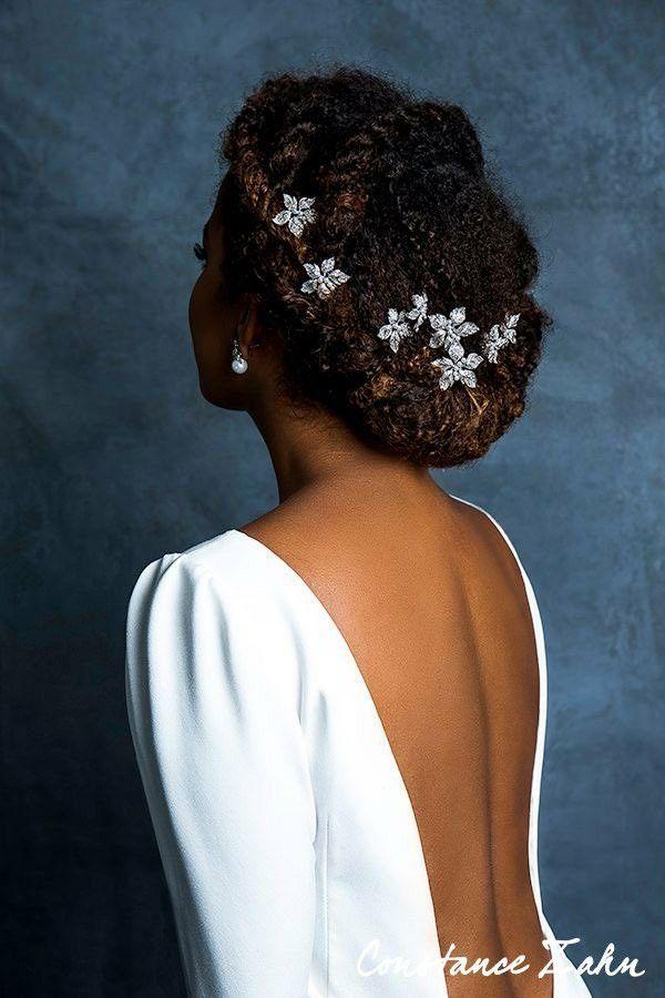 Afro Hairstyles, Bride Hairstyles, Havana Twist Hairstyles, Bridal Hair And Makeup, Hair Makeup, Curly Bridal Hair, Curly Hair Updo, Kinky Hair, Natural Hair Wedding