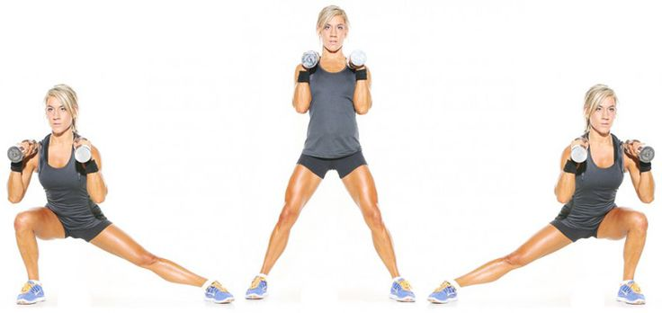 1. lateral lunge exercise to create thigh gap