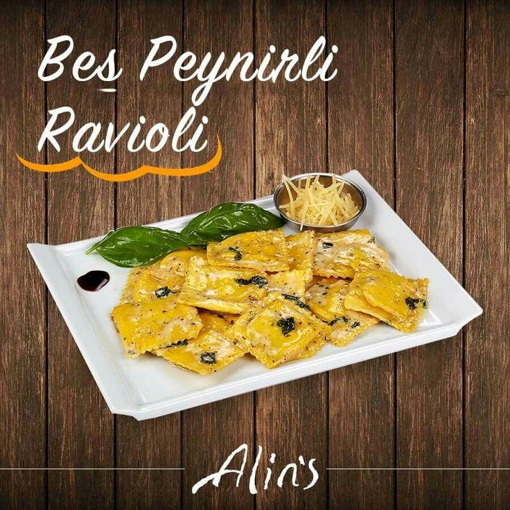 📌Bu lezzet yeni! #Alins iftiharla sunar; ⭐ Beş Peynirli Ravioli. Fesleğen, sarımsak, pesto sos, parmesan peyniri ve krema ile dans eden bu lezzetin tadına doyamayacaksınız.👍