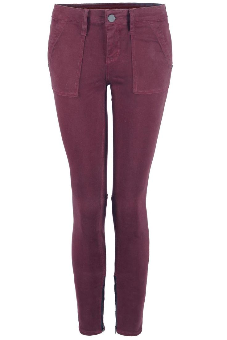 Beautiful wine pants with side zippers at the bottom andfront pockets.   Wine Pants by Dex. Clothing - Bottoms - Jeans & Denim - Skinny Canada