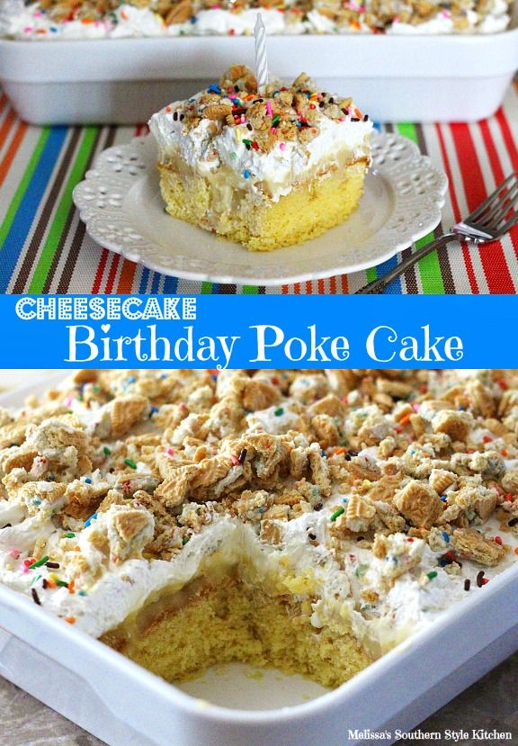Cheesecake Birthday Poke Cake