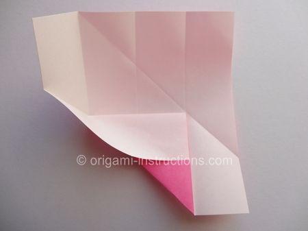 Origami Magie Rose Cube Etape 5