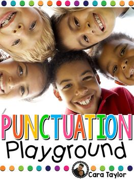 This resource is a beginning unit all about punctuation.  It focuses on periods, question marks, and exclamation points, in a variety of fun and interactive lessons.  Your students will love the playground theme!  The primary learner would benefit most from this resource.Included you'll find:~Punctuation Posters~Schema Anchor Charts~Interactive Big Book that can be projected or bound~Interactive Student Reader~Punctuation Gang Scoot Game~Punctuation Bingo~3 Punctuation Mini Books~A Variety…