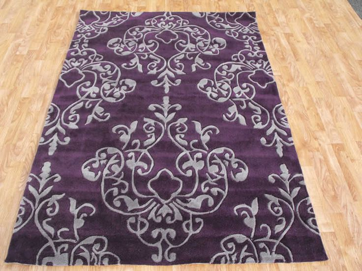 purple and grey bathroom rug | Purple Rugs
