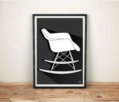 Pôster Cadeira Eames DAR Balanço