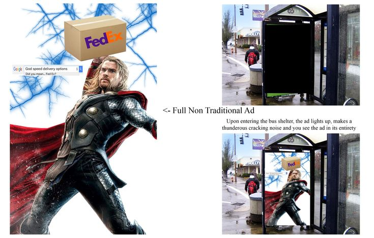 Bus Shelter Advertisement FedEx Thor