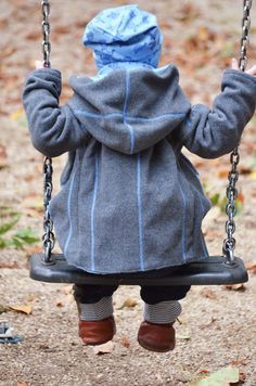 Upcycling Winterjacke für Kinder nähen - Idee im Link