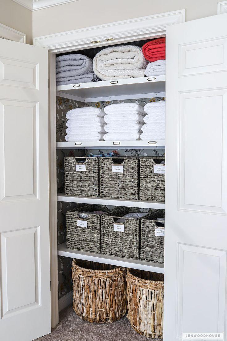 Linen Closet Makeover Organized Linen Closet Organization Organizing Organizedcloset Linencloset
