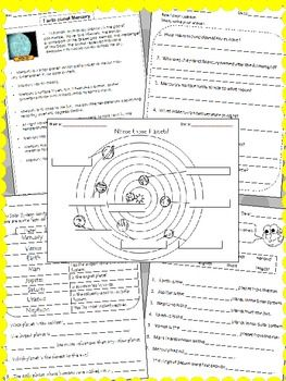FREEBIE for 1st-beyond! Includes 8 fact sheets for the planets! Great Resource to have on hand @ school.