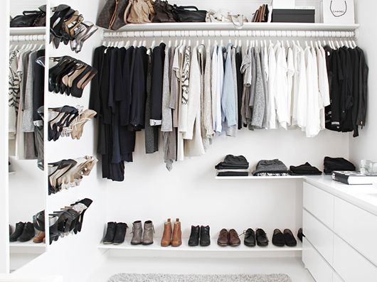 weekend decorating idea: chic shoe rack — The Decorista