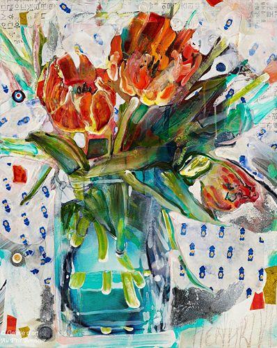 Maryann Hendriks, 'Reveal Yourself, Tiny Songstress!', 24'' x 30'' | Galerie d'art - Au P'tit Bonheur - Art Gallery