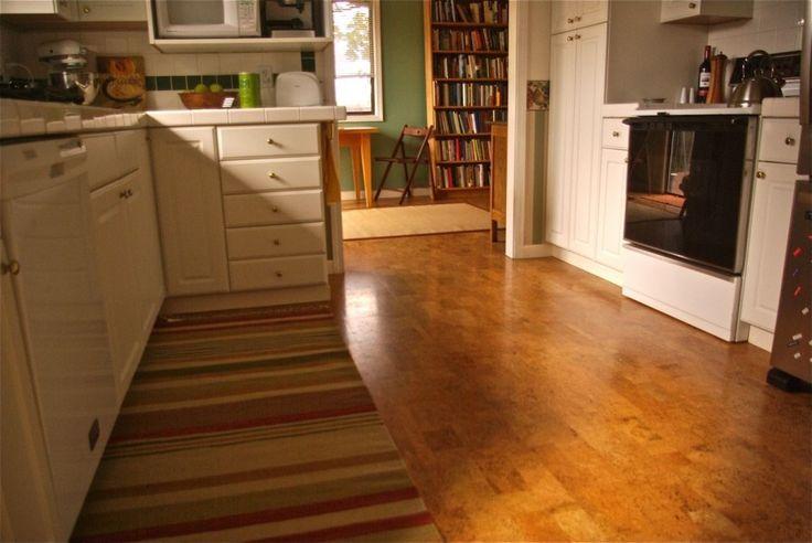 Striated Cork Floor White Kitchen Cork Flooring Guide
