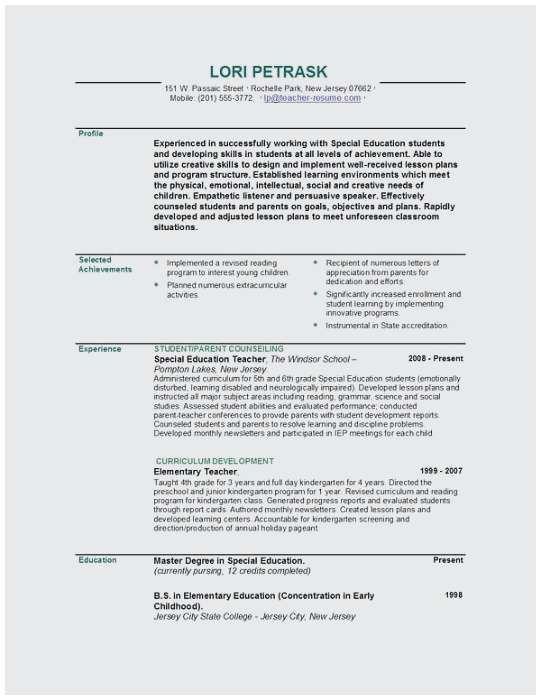 76 Elegant Gallery Of Education Part On Resume Example ...