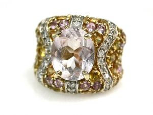 Morganite Sapphire and Diamond Ring