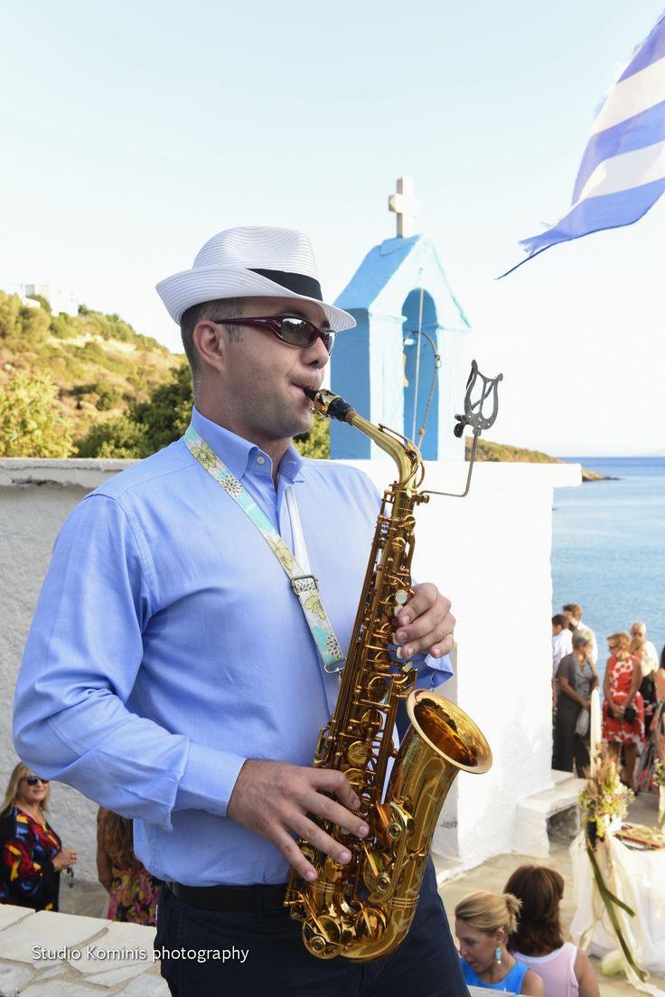 #wedding #sax #andros #greek islands #greek wedding #greece #music #entertainment #lovely #wedding planner #Dreams In Style  Photo credits: Studio Kominis