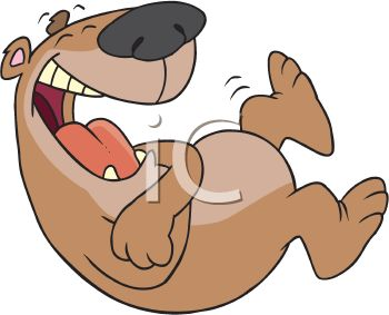 Royalty Free Clipart Image of a Bear Laughing