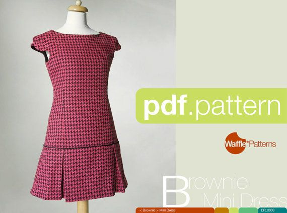 PDF sewing pattern. Choose 1size from 3442. Mini by WafflePatterns, €4.84