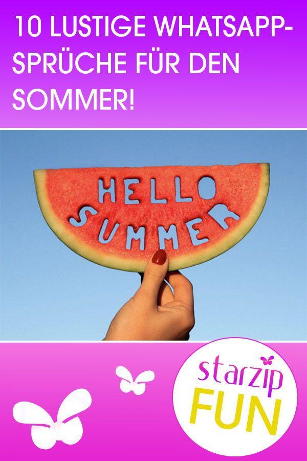 10 WhatsApp Sprüche für den Sommer | Lustige whatsapp ...