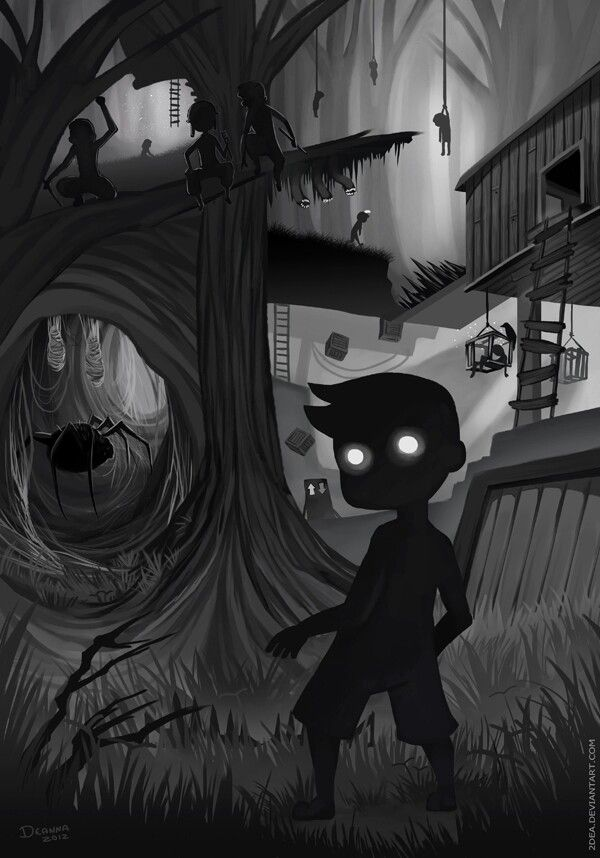 Limbo - A simple puzzle-platform video game  with lovely ambience, and nice creepy graphics! It's now available on IOS device!
