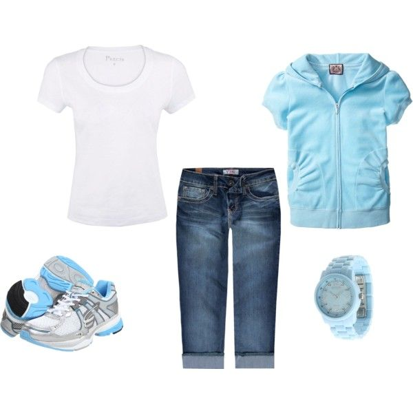 Makes me want to run: Baby Blue, Workout Outfit, Outfit Sets, Outfit Blue, Blue Summer, Awesome Outfits, Style Spring Summer, Fashionable Blues, Spring Outfit