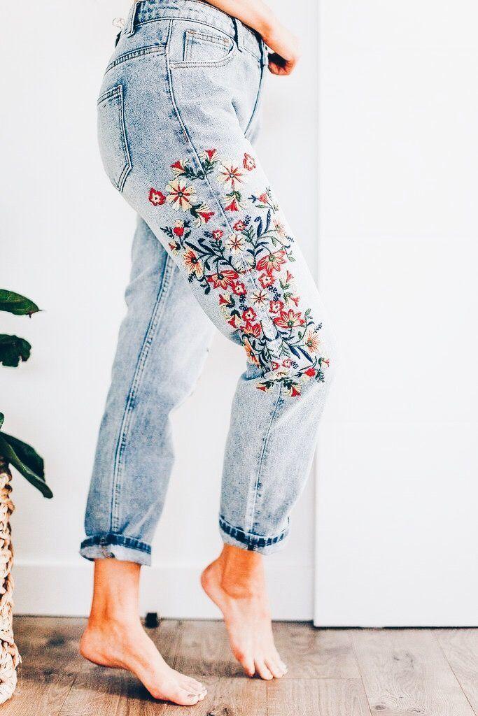 7878da5ffc Cute outfits for teens summer fashion outfits 2019 | Cute Outfits |  Fashion, Clothes, Embroidered jeans