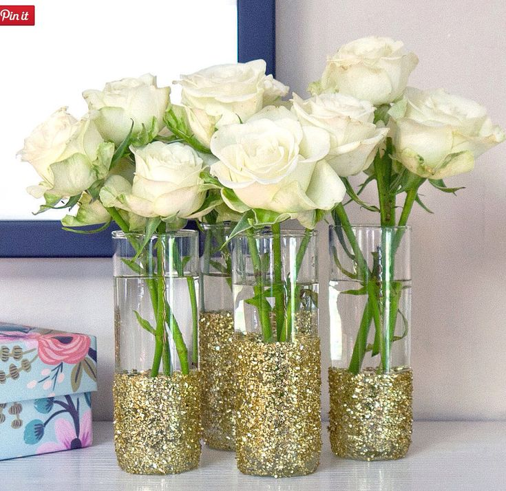 DIY Simple Elegant Vases for your next party ♥
