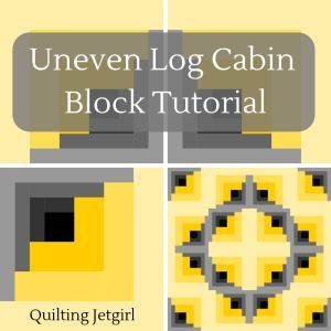 Uneven Log Cabin Block Tutorial