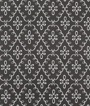 Michael Miller Doodle Damask Gray fabric at the online fabric store