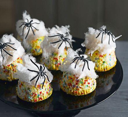 Spider nest cakes #BBCGoodFood