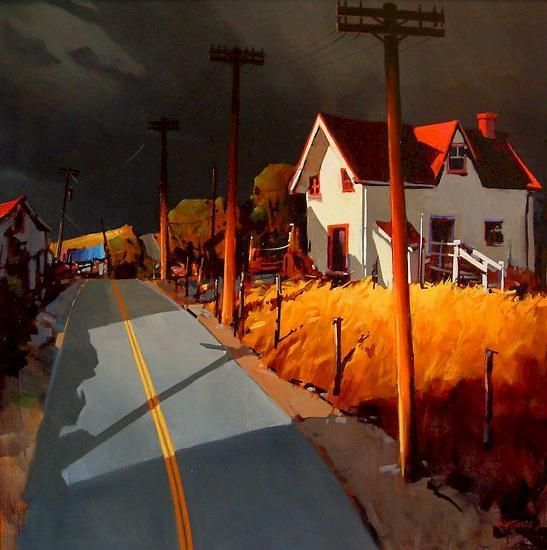 Road To Charlevoix by Michael O'Toole (Canadian)