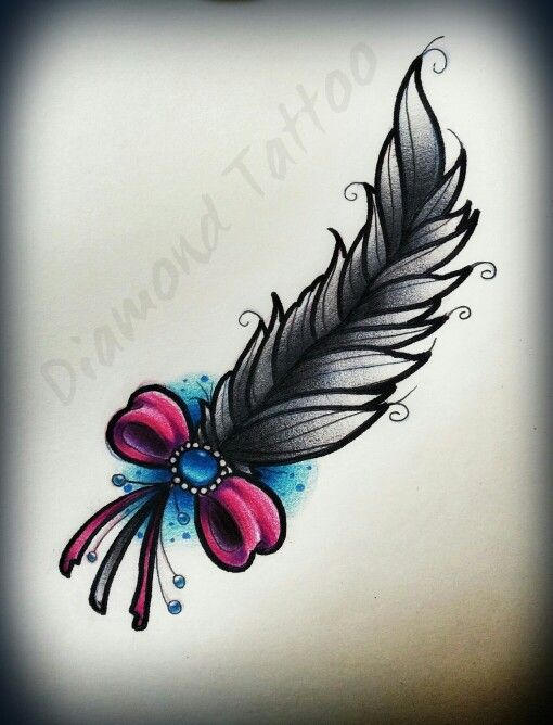 Neo traditional feather