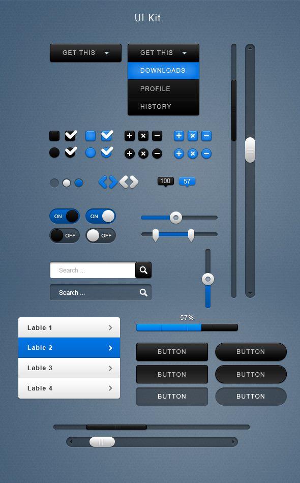 User Interface Kit by ~mygreed on deviantART