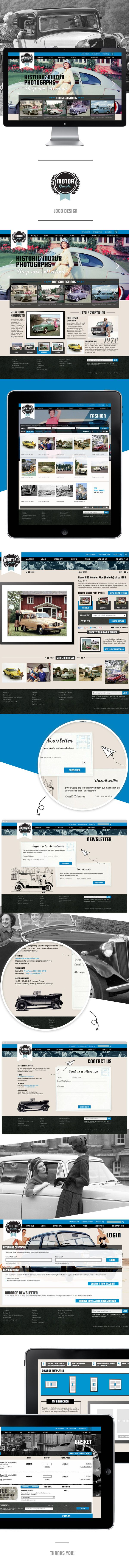 Motor Graphs website design by Ge Song, via Behance